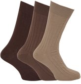 Universal Textiles Mens Ribbed Thermal Socks With Lambswool (Pack Of 3)