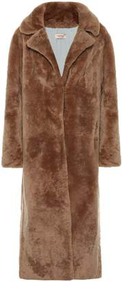 Yves Salomon Meteo shearling coat