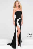 Jovani Strapless Jersey High Slit Dress JVN41844