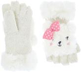 Accessorize Fluffy Paula Polar Bear Capped Mittens