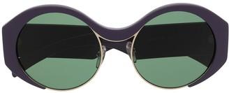 Marni Eyewear Round-Frame Tinted Sunglasses