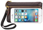 Boshiho Womens Clutch Wallet Wristlet with Lanyard, Cell Phone Leather Wallet Coin Purse