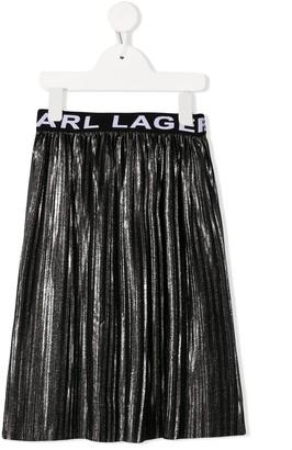 Karl Lagerfeld Paris Pleated Midi Skirt