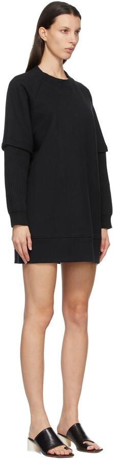 Thumbnail for your product : MM6 MAISON MARGIELA Black Sweatshirt Dress