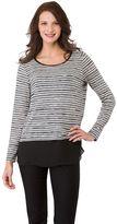 Haggar Women's Chiffon Shirttail Striped Tunic