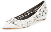 Christian Dior Floral Lattice Leather Wedge
