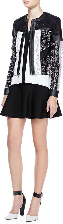 BCBGMAXAZRIA Ingrid Flare-Hem Ponte Skirt
