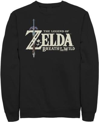 Licensed Character Young Men's Nintendo The Legend Of Zelda Breath Of The Wild Logo Fleece