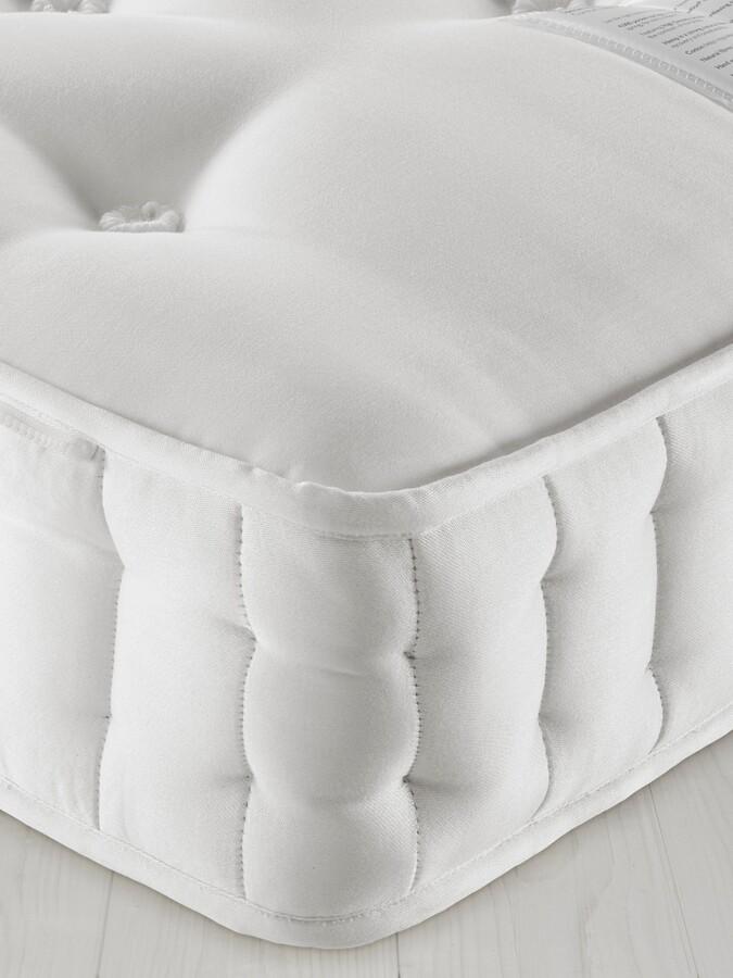John Lewis & Partners Natural Collection Fleece Wool 8400, Super King Size, Firm Tension Pocket Spring Zip Link Mattress