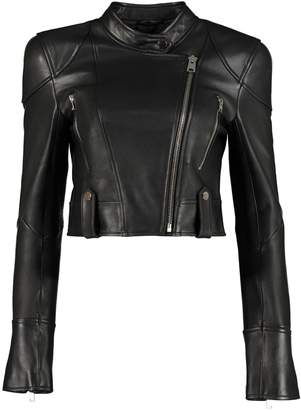 Pinko Vietare Leather Biker Jacket