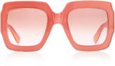 Gucci Pop Web Acetate Square-Frame Sunglasses