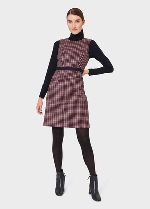 Hobbs Penelope Wool Check Shift Dress