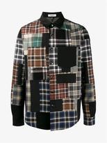 Valentino Check Patchwork Shirt Jacket