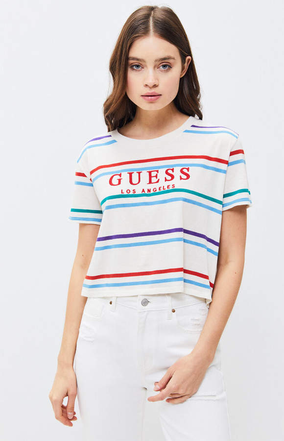 33d80376c6 Guess Striped Tee - ShopStyle