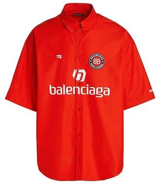 Balenciaga Logo Short-Sleeve Soccer Shirt