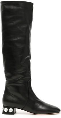 Miu Miu Crystal Embellished Long Boots