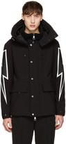Neil Barrett Black Thunderbolt Ski Jacket