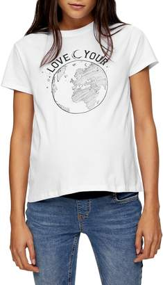 Topshop MATERNITY Love Your World Tee
