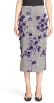 Jason Wu Fil Coupé Floral Embellished Midi Skirt