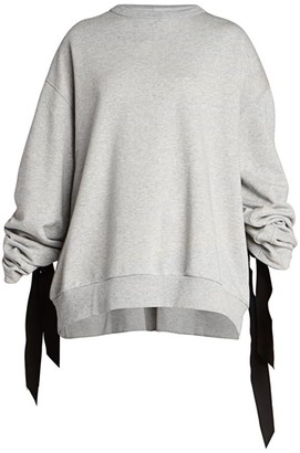 Dries Van Noten Ribbon Back Detail Sweatshirt