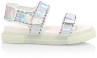 Giuseppe Zanotti Blabber Iridescent Leather Sport Sandals