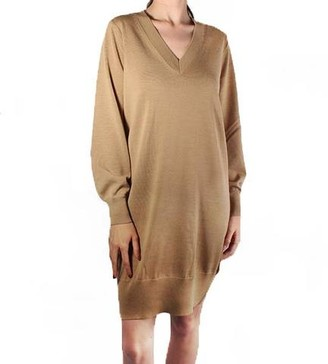 MICHAEL Michael Kors V-Neck Merino Wool Dress