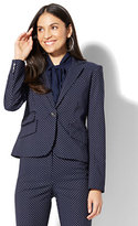 New York & Co. 7th Avenue Jacket - One-Button - Navy Pindot - Petite