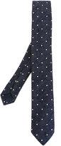 Eleventy woven polka dot tie - men - Silk - One Size
