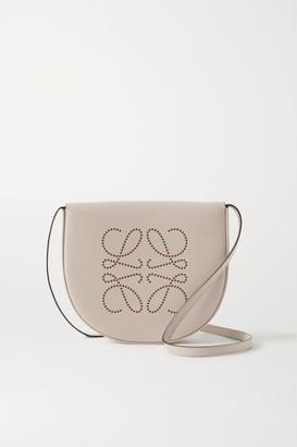 Loewe Heel Small Leather Shoulder Bag - Mushroom