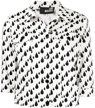 Love Moschino Printed Button-Up Jacket