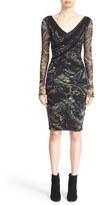 Fuzzi Women's V-Neck Print Tulle Dress