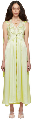 Stella McCartney Yellow Satin High Low Dress