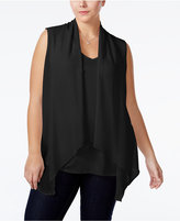 ING Trendy Plus Size Layered-Look Vest Top