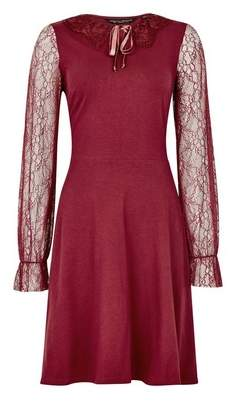 Dorothy Perkins Womens Red Lace Collar 2