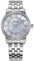 Kenneth Cole New York Women's KC4973 Classic Mother-Of-Pearl Stone Bezel Bracelet Watch