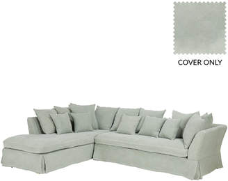 OKA Left Hand Lamorna Corner Sofa Cover - Green