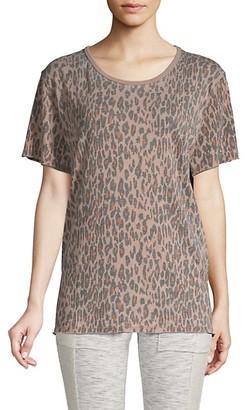 Free People Tourist Leopard-Print T-Shirt