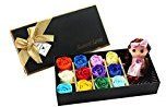 Tinksky Bath Soap Gift Box with Doll for Birthday Wedding Valentine's Day , include 12 Scented (Multicolor)