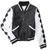 Diesel Girls 7-16) Faux Leather Bomber Jacket