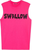 McQ Bright Pink Swallow-print Tank