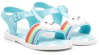 Mini Melissa Rainbow Cloud sandals