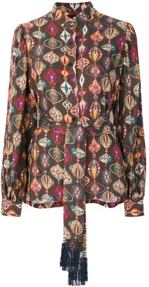 Michel Klein abstract-print silk blouse
