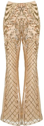 ZUHAIR MURAD Sequin-Embellished Flared Trousers