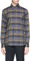 Public School Check plaid twill shirt
