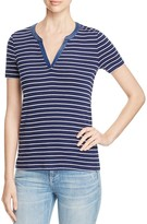 Three Dots Esther Striped Tee