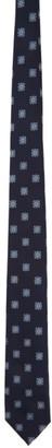 Ermenegildo Zegna Navy Silk Floral Tie