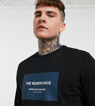 The North Face Topo long sleeve T-shirt in black Exclusive at ASOS