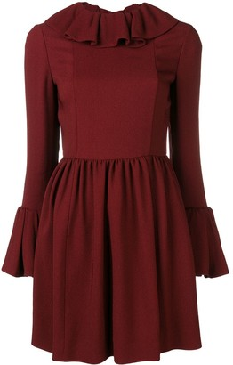 Valentino ruffle trim mini dress
