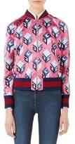 Gucci Silk Duchess Bomber Jacket