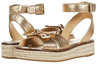 MICHAEL Michael Kors Ripley Sandal (Pale Gold) Women's Shoes